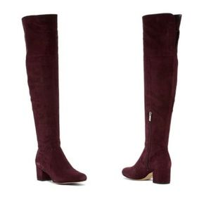 SAM EDELMAN Elina Suede Leather Over the Knee Boot